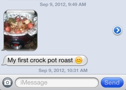 Cole's favorite crock pot meal...Roast Potatoes Carrots...especially the carrots