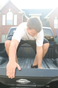 That's One Way to Open the Truck Bed